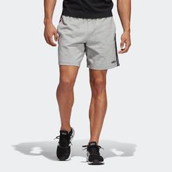 Short de sport homme Adidas court en coton gris chiné