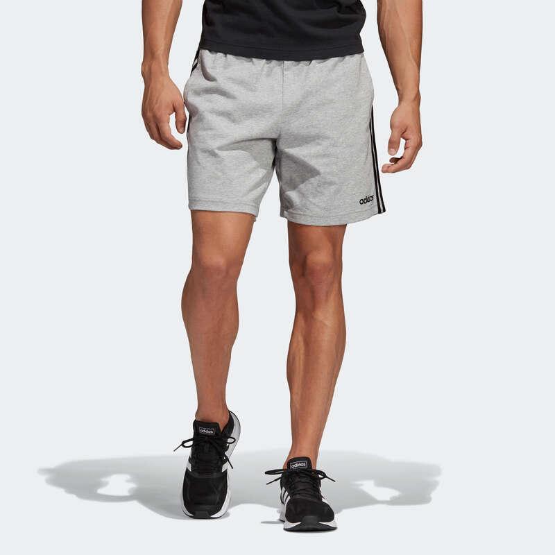 KLÄDER FÖR GYMNASTIK, PILATES, HERR Pilates och Yoga - Shorts Adidas 3S Gym Herr grå ADIDAS - SPORTER