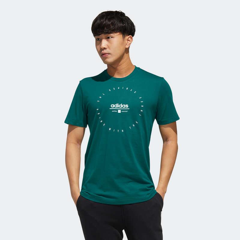 ÎMBRĂCĂMINTE TONIFIERE, PILATES BĂRBAȚI Descopera Produsele Reduse - Tricou Adidas verde bărbați ADIDAS - COPII