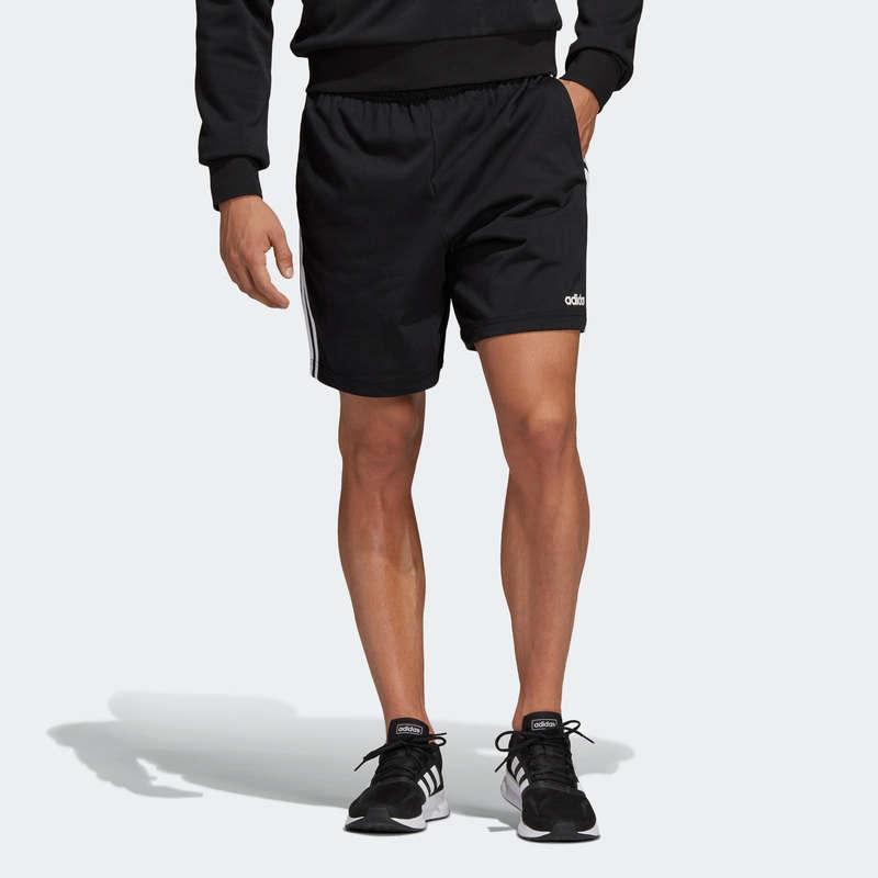 KLÄDER FÖR GYMNASTIK, PILATES, HERR Pilates och Yoga - Shorts 3S Adidas Herr svart ADIDAS - SPORTER