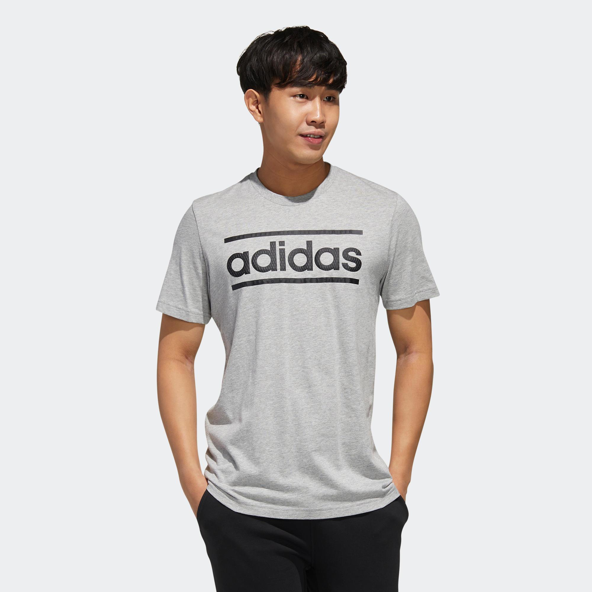 Tricou Adidas LOGO gri bărbați