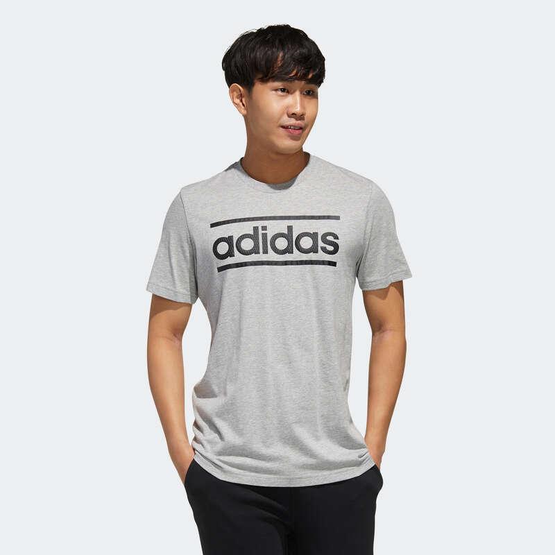 T-SHIRT E SHORT UOMO Ginnastica, Pilates - T-shirt Adidas uomo grigia ADIDAS - Abbigliamento uomo