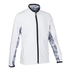 Boys' Light Breathable Gym Jacket W500 - White