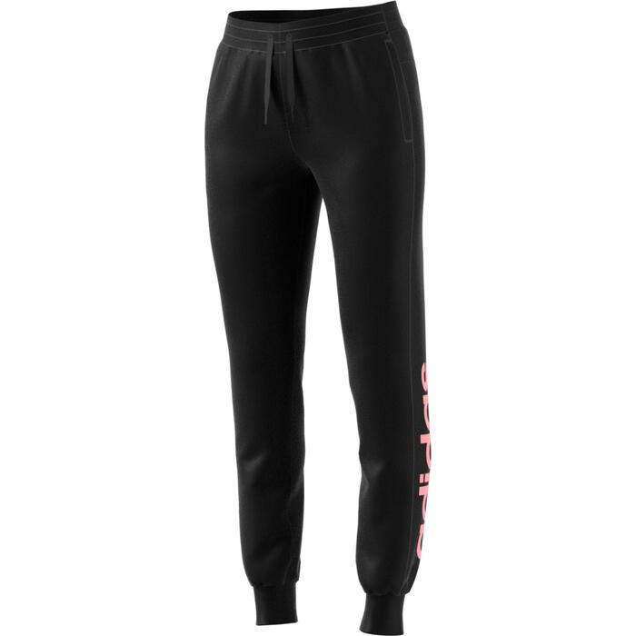 Sportbroek voor dames slim fit zwart/roze