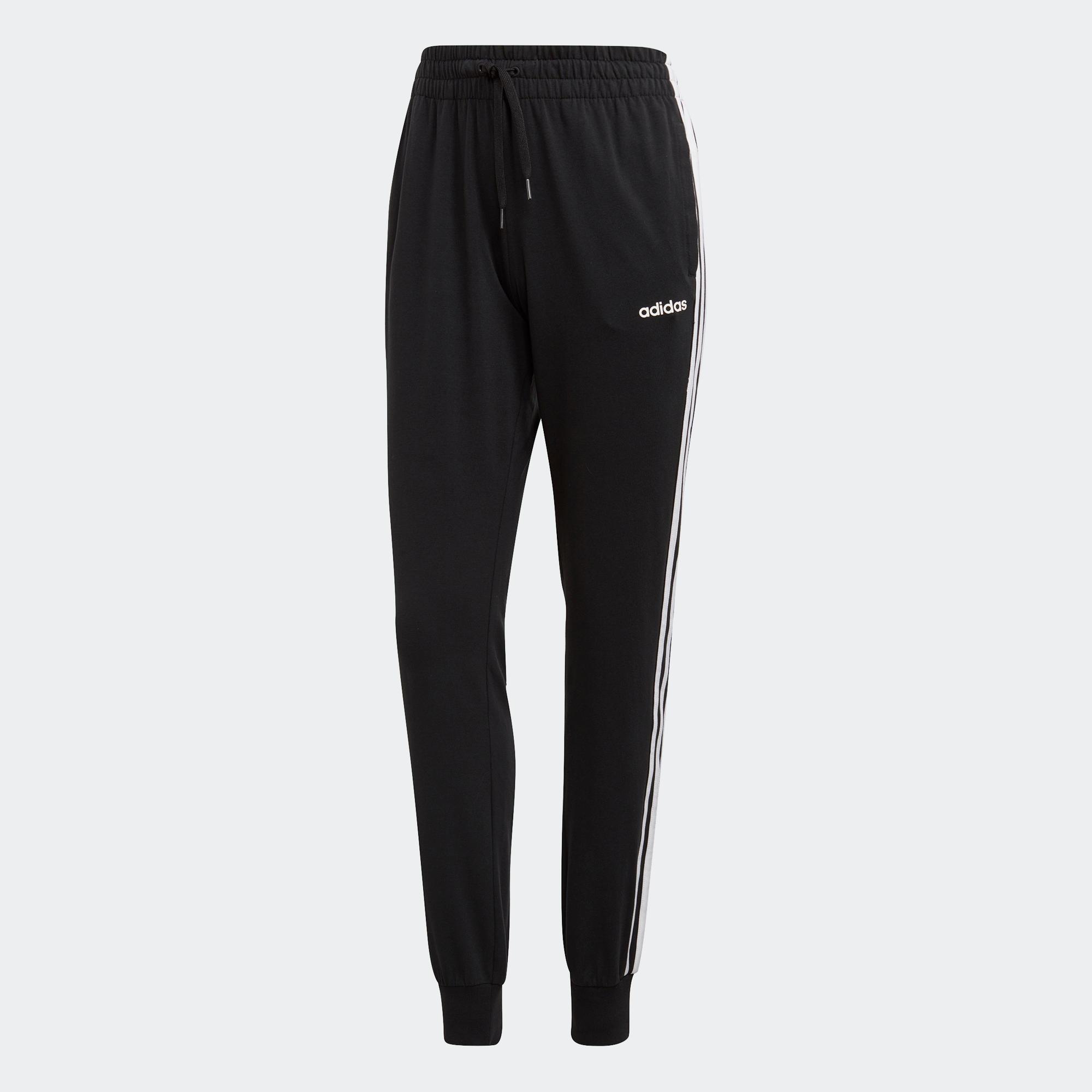 ADIDAS Jogginghose mit 3 Streifen Damen schwarz   Sportbekleidung > Sporthosen   Adidas