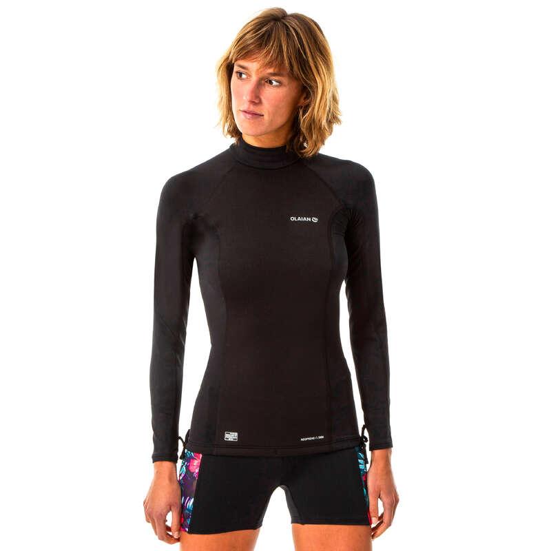 Női UV szűrős ruházat Strand, szörf, sárkány - Női UV-szűrő felső  OLAIAN - Bikini, boardshort, papucs