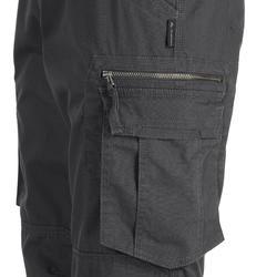 Herenbroek voor backpacken Travel 100 grijs