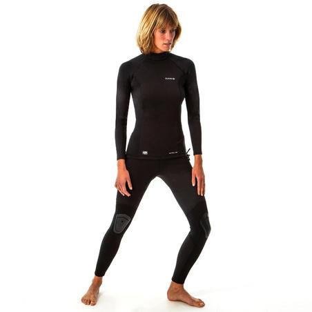 900 women's anti-UV neoprene black surfing leggings