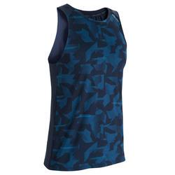 Men's Ventilated Back Fitness Tank Top - Camo Blue