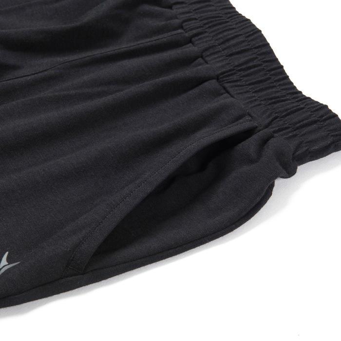 Boys' Wide Light Breathable Cotton Gym Bottoms 500 - Black