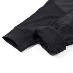 男童寬鬆輕盈透氣棉質健身長褲500 - 黑色
