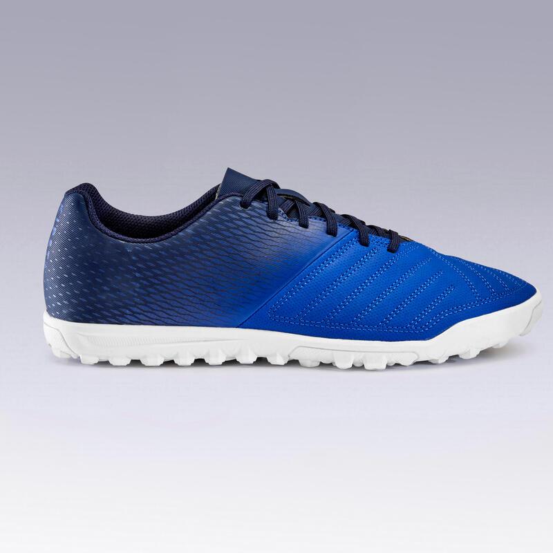 Chaussure de football adulte terrain dur Agility 140 TF bleu