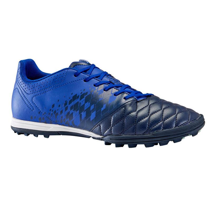 Chaussure de football adulte terrain dur Agility 500 HG bleu foncé