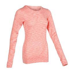 動態瑜珈T恤 - 珊瑚紅
