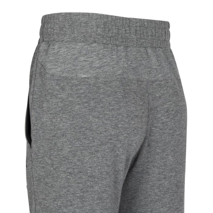 男童寬鬆輕盈透氣棉質健身長褲500 - 灰色