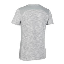 Boys' Breathable Cotton Short-Sleeved Gym T-Shirt 500 - Light Grey