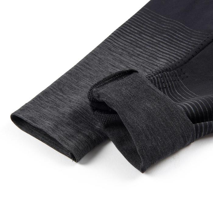 Legging respirant et technique S580 fille GYM ENFANT noir, bas gris