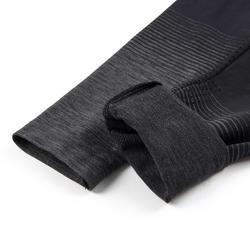 Legging respirant et technique S900 fille GYM ENFANT noir, bas gris