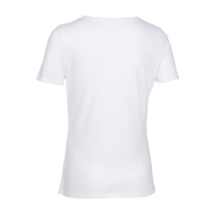 Girls' Short-Sleeved Gym T-Shirt 100 - White Print