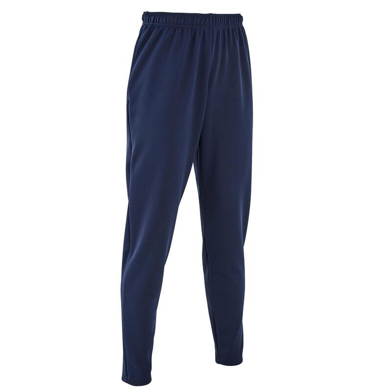 Pantalon Fotbal T100 Albastru Adulți