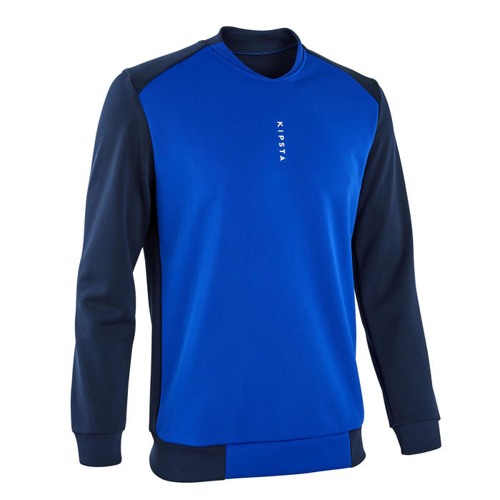Sweat de football T100 bleu foncé