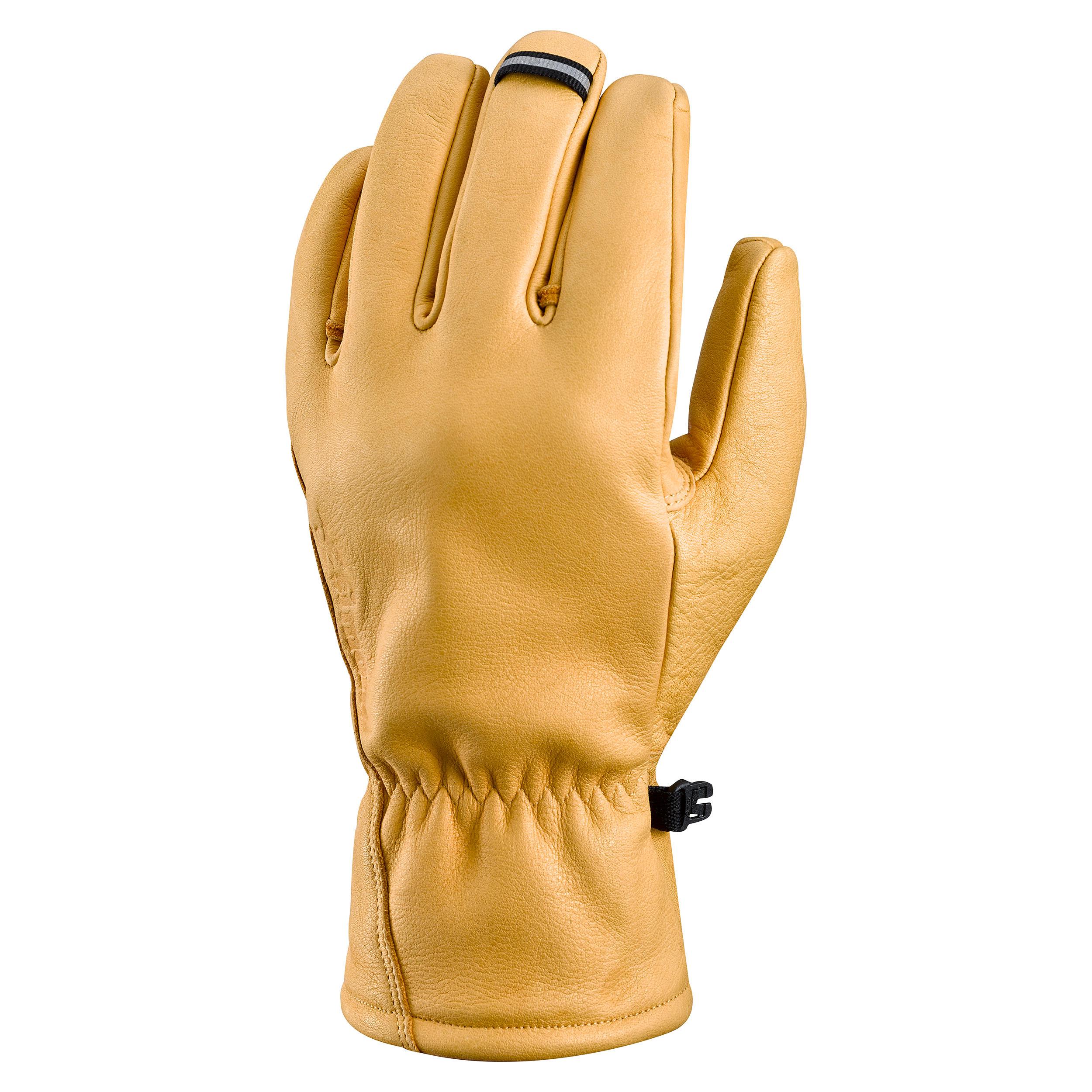 Bergsteiger-Handschuhe ALPINISM Leder | Accessoires > Handschuhe > Lederhandschuhe | Simond
