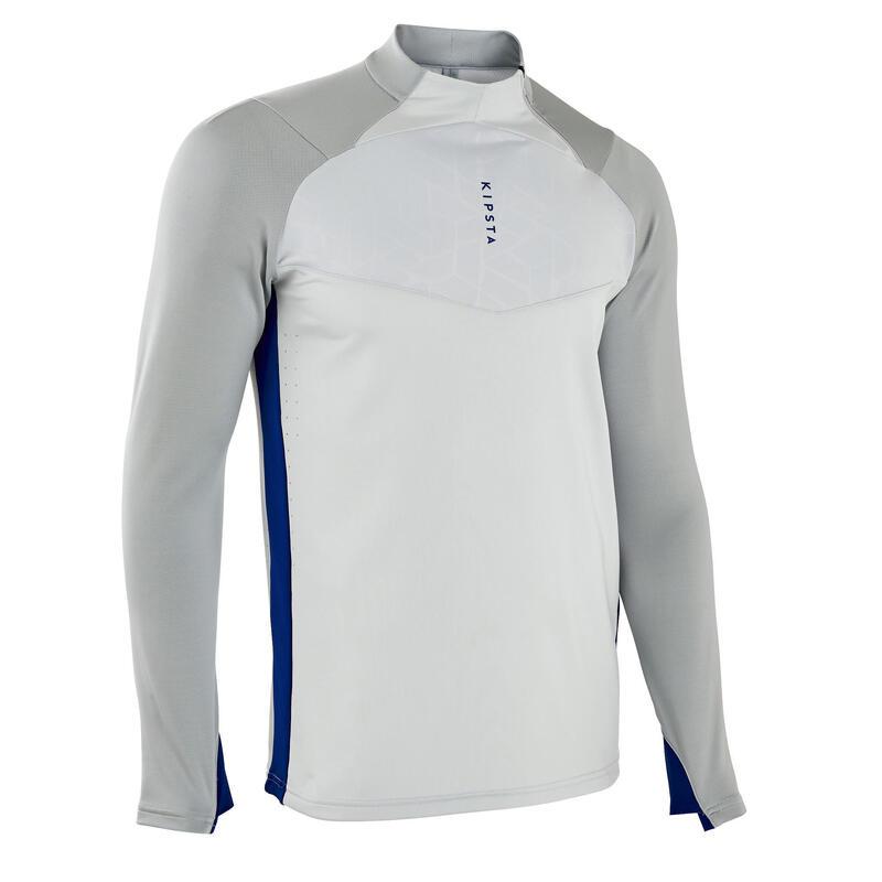 Training top voetbal F540 TRX lichtgrijs/blauw