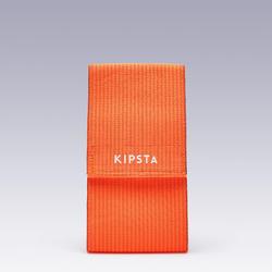 Omkeerbare aanvoerdersband voor volwassenen en kinderen oranje/blauw