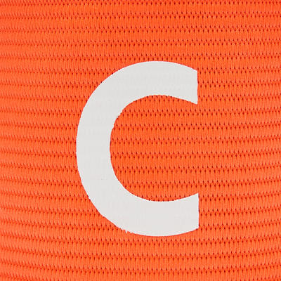 Brassard de capitaine reversible Orange Bleu
