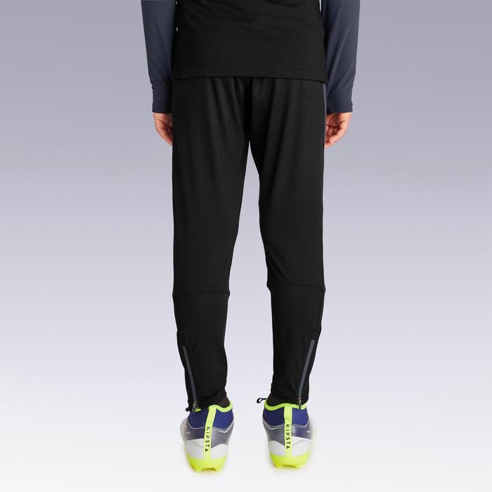 兒童款足球訓練長褲TP 500-黑灰配色