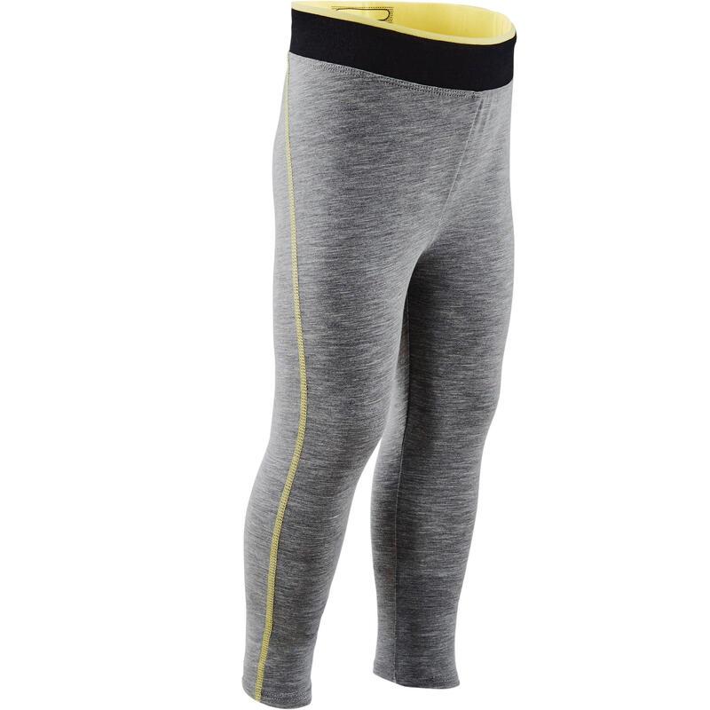 Ademende legging voor kleutergym meisjes grijs