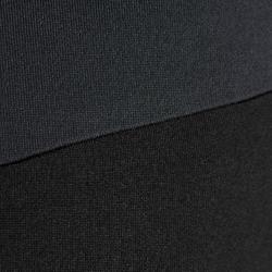 Kids' Football Half-Zip Training Sweatshirt T500 - Black/Grey