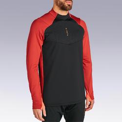 Sweat de football 1/2 zip adulte TRAXIUM noir et rouge