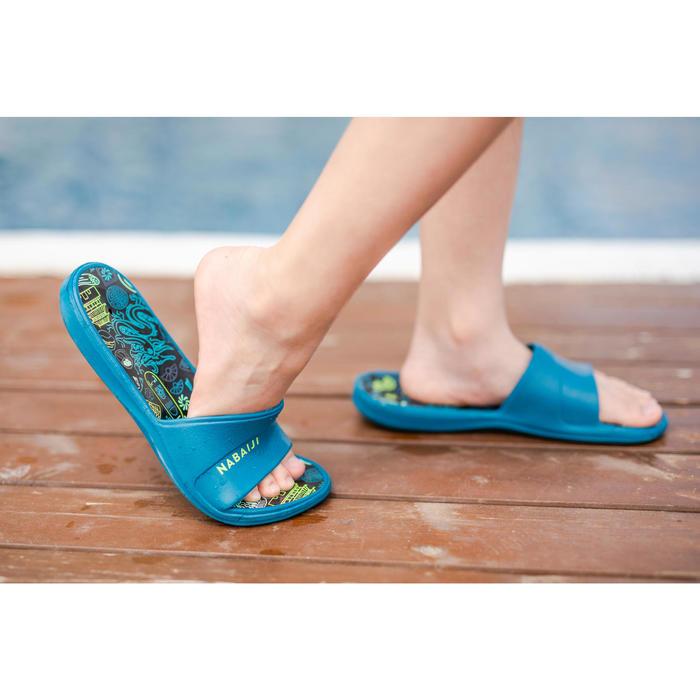 兒童沙灘拖鞋Slap 500-城市M藍色