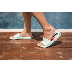 Kids' Pool Sandals Slap 500 - Palm Green Coral