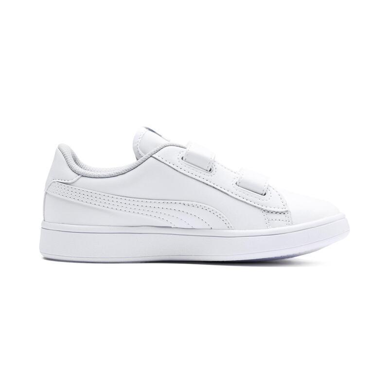 Zapatillas de Tenis niños Puma smash blancas