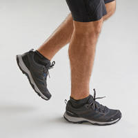 Men's mountain hiking shoes - MH100 - Grey