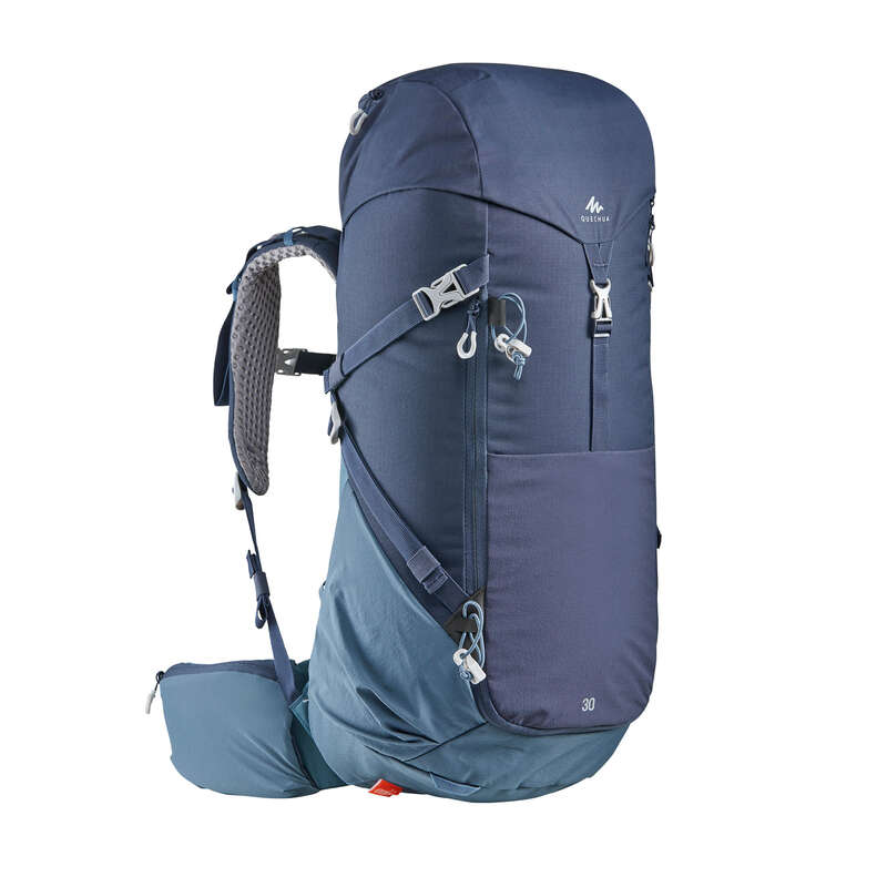 20L TO 40L MOUNTAIN HIKING BACKPACKS Hiking - MH500 30-L Rucksack - Blue QUECHUA - Hiking Backpacks and Bags