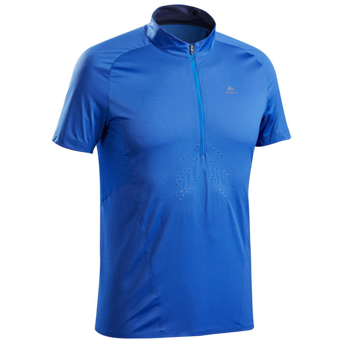 Men's Fast Hiking Short-Sleeved T-Shirt FH500 - Blue