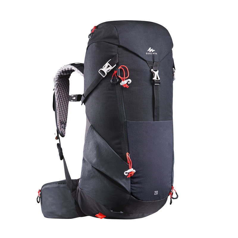 20L TO 40L MOUNTAIN HIKING BACKPACKS Hiking - MH500 20-L Rucksack - Black QUECHUA - Hiking Backpacks and Bags