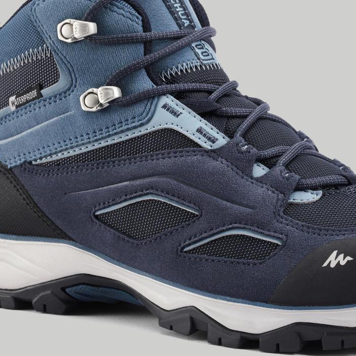 Chaussures imperméables de randonnée montagne - MH100 Mid Bleu - Homme