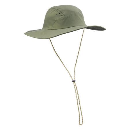 Men's anti-UV mountain trekking hat - TREK 500 - Khaki