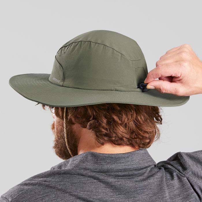 Uv-werende hoed voor bergtrekking heren Trek 500 kaki