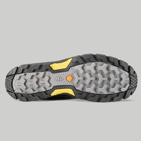 Sepatu mendaki gunung tahan air pria - MH500 Mid - Biru/Kuning