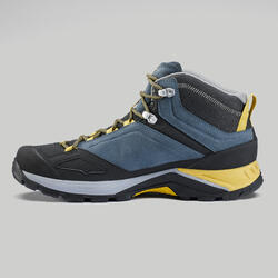 Men's waterproof mountain hiking shoes - MH500 Mid - Blue/Yellow