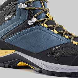 Men's waterproof mountain walking shoes - MH500 Mid - Blue/Yellow