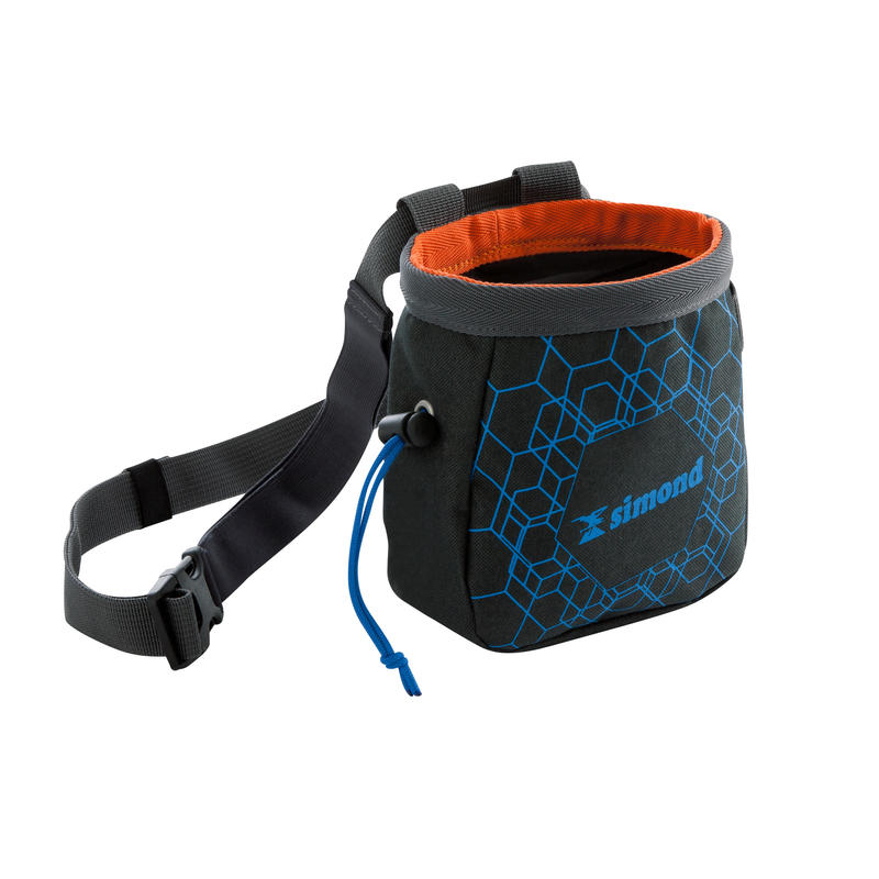 Climbing And Mountaineering CHALK BAG CHALK-BARRIER SIZE L BLACK-BLUE
