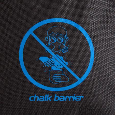 CLIMBING CHALK BAG VERTIKA CHALK-BARRIER SIZE L - BLACK/BLUE