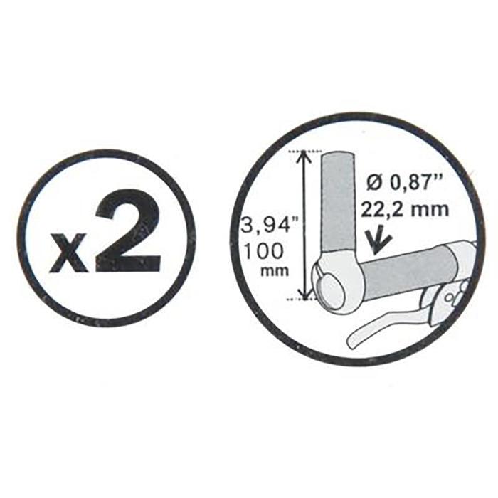 Rechte bar-ends 100 mm zwart