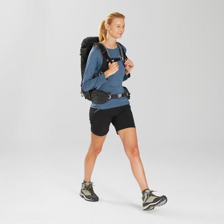 Playera mangas largas de senderismo montaña - MH550 - Mujer